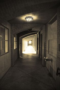 A uniquely lit and designed hallway at La Paz at the University of Arizona     Don't miss our creative hallway and foyer home decor ideas at www.CreativeHomeDecorations.com