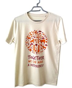 """Maglietta Uomo: """"Together we can make a difference"""""""
