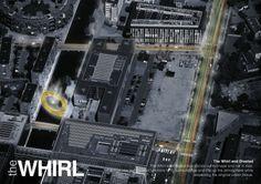 Integration into urban tissue - THE WHIRL (by Marc de Vrij & Melle van Dijk) Ørestad, Copenhagen hotspot design for Innosite 'Mind the gap' competition. Landscape architecture.