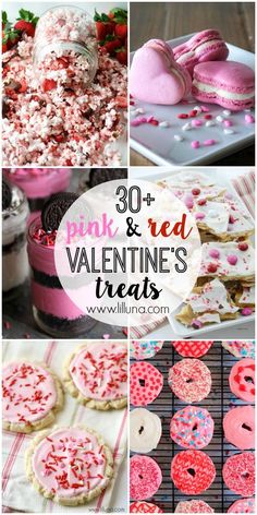 A roundup of 30+ pink and red desserts perfect for Valentine's Day - Delicious AND festive recipes!