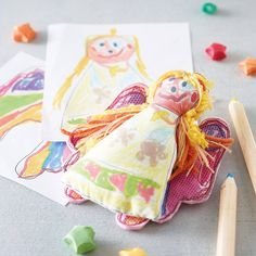 . A decoration that is completely personal to you and your family.Each handmade decoration is created from your child's drawing.