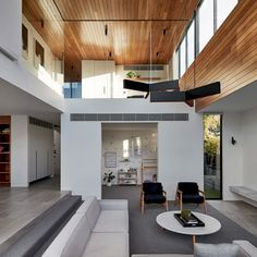 Bloomfield: Modern House with Fairly Closed Front Elevation – Futurist Architecture Interior Exterior, Home Interior Design, House And Home Magazine, Modern House Design, Interior Architecture, Living Room Designs, House Plans, Home And Family, New Homes