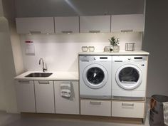 Laundry Room Cabinets, Kitchen Pantry Cabinets, Laundry Room Storage, Laundry In Bathroom, Garage Cabinets, Bathroom Cabinets, Modern Laundry Rooms, Laundry Room Layouts, Small Kitchen Pantry