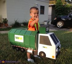 Garbage Man with Truck Costume - Halloween Costume Contest via @costumeworks