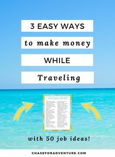 Want to know how to make money while traveling the world? Click through the learn about 3 easy ways you can get paid to travel the world and 50 ideas! Travel Jobs, Travel Money, Work Travel, Travel Hacks, Make Money Blogging, Way To Make Money, Make Money Online, Saving Money, Teach English To Kids