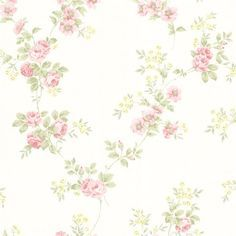 Classically charming, romantic pink and baby blue flowers bloom from curling green vines. A subtle brush stroke texture on the leaves and stems give this wallpaper a warm and homey feel. Mimosa is a repasted, high performance wallpaper. Chic Wallpaper, Botanical Wallpaper, Embossed Wallpaper, Watercolor Wallpaper, Damask Wallpaper, Striped Wallpaper, Geometric Wallpaper, Wallpaper Samples, Pastel Wallpaper