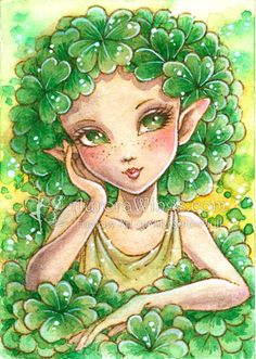 CloverPixie by aruarian-dancer.deviantart.com on @deviantART