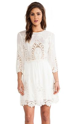 Dolce Vita Valentina Dress in White & Natural | REVOLVE