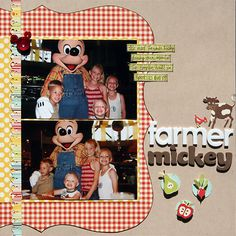 Disney Scrapbook Layout, I'm totally using it for our Disney album!!