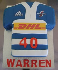 Stormers' rugby jersey cake