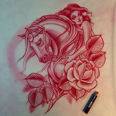 This is gorgeous!  Horse tattoo idea