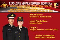 Pendaftaran Sekolah Inspektur Polisi Sumber Sarjana (SIPSS) TA 2015