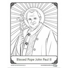 Catholic Crafts, Pope John Paul Ii, Pine Cone Crafts, Patriotic Crafts, Craft Activities, Coloring Pages, Religion, Angeles, Fonts