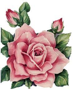 ImagiMeri's siingle rose and 2 buds Art Floral, Vintage Postcards, Vintage Images, Vintage Flowers, Vintage Floral, Vintage Prints, Vintage Art, Images Lindas, Vintage Rosen