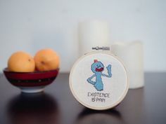 Existence is Pain - Rick and Morty Pattern Cross Stitch