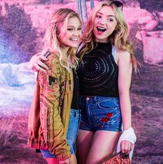 Olivia Holt and Peyton List