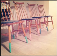 dip dyed chairs