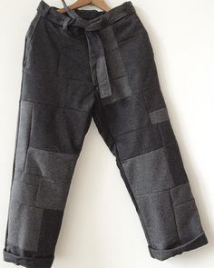 """rareweaves: """" THE LAST PIECE OF 2015 / THE RW HANDSEWN WOOL PATCHWORK TROUSER // Happy New Year to all my friends, collaborators, and followers of RW. Many exciting new announcements coming soon in..."""