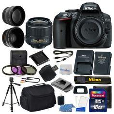 63868 photo-video Nikon D5300 Digital SLR Camera 3 lens 18-55mm VR II +16GB +More Great Value Kit!  BUY IT NOW ONLY  $529.95 Nikon D5300 Digital SLR Camera 3 lens 18-55mm VR II +16GB +More Great Value Kit!...