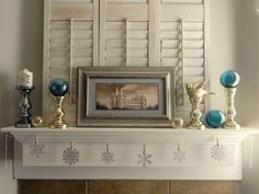 Just because Christmas is over doesn't mean you have to tear down your mantel decorations. See our favorite winter mantelscapes: http://www.hgtv.com/decorating-basics/decorate-your-mantel-for-winter/pictures/index.html?soc=pinfave