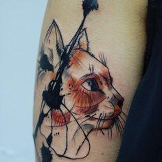 tattoo cat head hips - Recherche Google