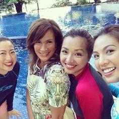 Unang Hirit girls enjoying the pool at #ClubPuntaFuego