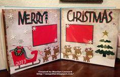 ~ Marilyn's Cricut Crafts ~: Christmas Scrapbook Layout