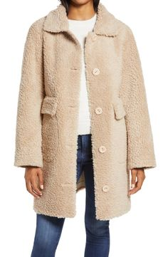 Faux Shearling Coat, Fur Coat, Ellen Tracy, Nordstrom, Beige, Fashion Outfits, Plush, Warm, Number