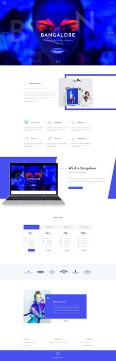 Bangalore | Agency & Portfolio PSD Template Bangalore is modern and creative PSD Template for anyone who wants to build an amazing & modern portfolio website. This template is suitable for a port...
