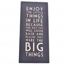 East of India Enjoy the Little Things in Life Wooden Plaque