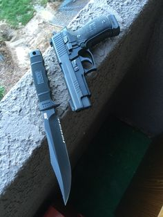 weaponslover: SOG Seal Team Elite (one great knife) and Sig Sauer Model 226 in .40 Cal. A GREAT Combo!!! Semper Fi
