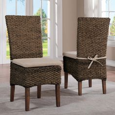 Riverside Mix n Match Woven Leaf Side Chair - Set of 2 - RVS2946