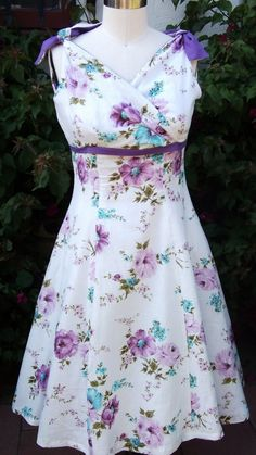 Purple is my favorite color!!!   And it's flowers on a dress!!!