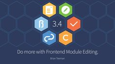 Joomla 3.4 takes frontend editing in Joomla to a whole new level. Till 3.4 came along it was already possible to edit Articles, Template and global configuration from the frontend. With 3.4 now you can edit modules as well. No more going to the backend to change some content in a module or modify a parameter !