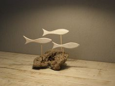 Unique Driftwood Sculpture with Fishes, Fish School,Unique Natural Sculpture Beach Decor Coastal Decor Driftwood Sculpture, Driftwood Art, Woodworking Projects Diy, Wood Projects, Fish Wood Carving, Wood Sconce, Funny Home Decor, Wood Fish, Rustic Art