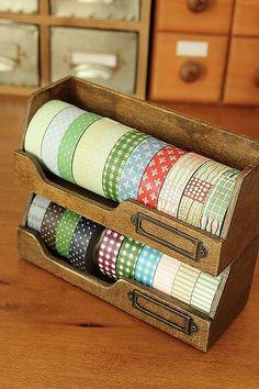 japanese office supplies,washi tape tray, anticca,decole japan,zakka,wood - Jilly Bean Kids jillybeankids.com