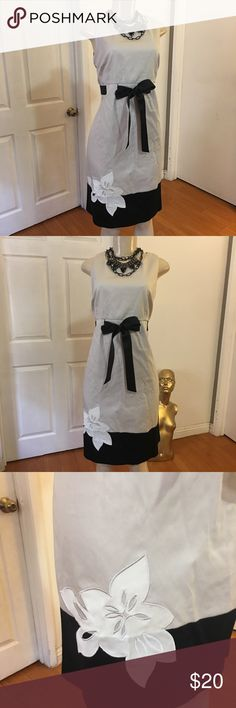 Cotton Embellished Dress Beautiful dress  Cotton/ spandex  A bit of stretch   Size 10  Length 39 inches  Chest 38 inches  Waist 34 inches  Excellent condition  No flaws Please measure yourself before buying anything from my closet  All sales are final R & M Richards Dresses