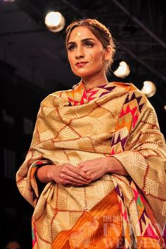 pattern indian scarf | Gaurang Shah's Tree of Life Collection {Lakme Fashion Week 2015} - Gallery