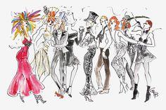 Swell Party! Rifat Ozbek, Bob Mackie, Anna (Blumarine) Molinari, Angel - Tiger Flower Studio