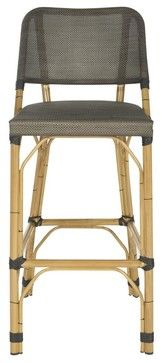 Deltana Barstool Brown (INDOOR/OUTDOOR) - transitional - Outdoor Stools And Benches - Pacific Rug & Home $169     for balcony