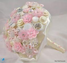 Blue Petyl - Button Wedding Bouquet