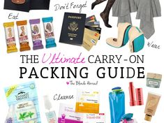 Whether you're taking a short flight or a transatlantic flight, this carry-on packing guide will ensure you are prepared for a comfortable journey. Carry On Packing, Packing Tips For Travel, Travel Essentials, Travel Guides, Packing Lists, Europe Packing, Traveling Europe, Traveling Tips, Backpacking Europe