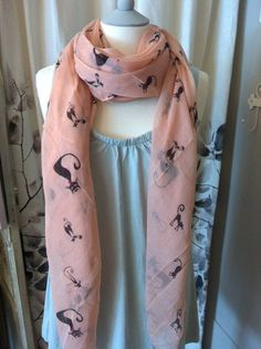 parisienne cats scarf by french grey interiors   notonthehighstreet.com
