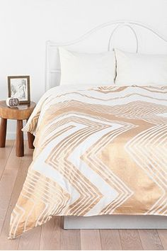Urban Outfitters   Magical Thinking Geo Empire Duvet Cover, could be turned into curtains
