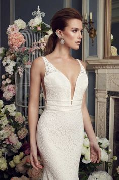 Mikaella 2154 wedding dress currently for sale at off retail. Italian Wedding Dresses, Elegant Wedding Gowns, Wedding Dress Chiffon, Sweetheart Wedding Dress, Country Wedding Dresses, Bridal Wedding Dresses, Wedding Dress Styles, Lace Wedding, Mikaella Bridal