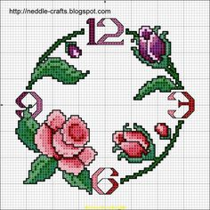 شغل ابره NEEDLE CRAFTS: باترونات ساعات ايتامين جديده - new x stitch clock patterns