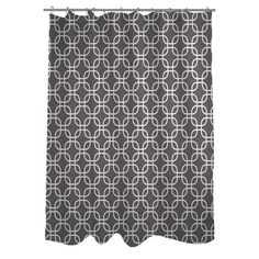 One Bella Casa Hisa 2 Geometric Woven Polyester Shower Curtain | AllModern