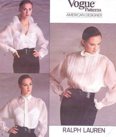 80s Ralph Lauren Vogue American Designer Sewing by CloesCloset