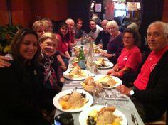Repas lors de la rencontre sur l'évènement le train bien vivre pour bien vieillir