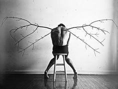 抑郁症患者的超现实自拍